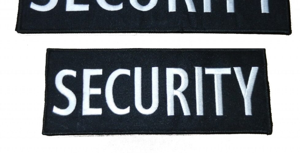 SECURITY embroidered velcro patch