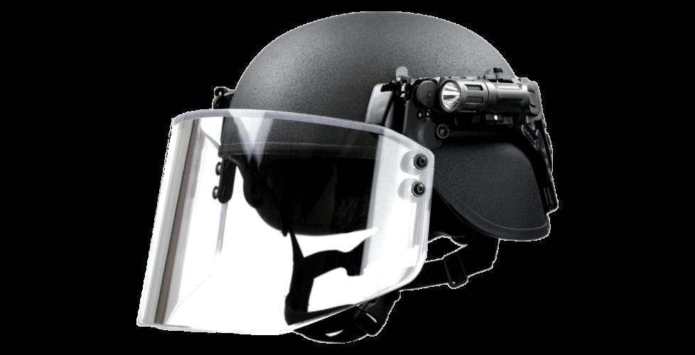 Canarmor helmet with face shield